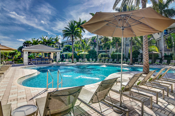 pool at The Quaye at Palm Beach Gardens Apartments