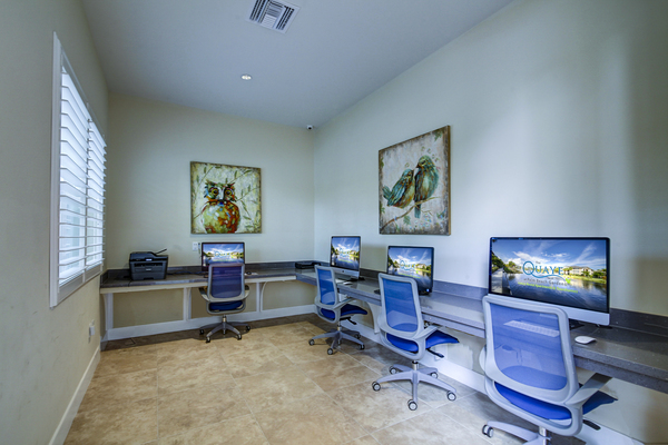 business center at The Quaye at Palm Beach Gardens Apartments