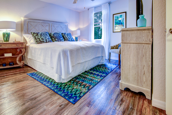 bedroom at The Quaye at Palm Beach Gardens Apartments