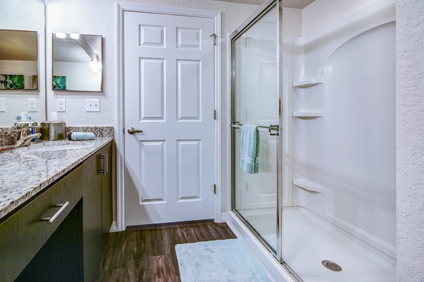 bathroom at The Quaye at Palm Beach Gardens Apartments