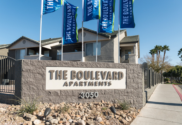 signage at The Boulevard Apartments