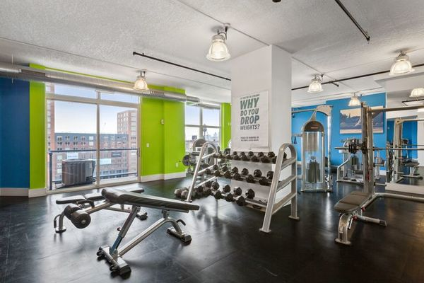 fitness center at Cast Iron Lofts