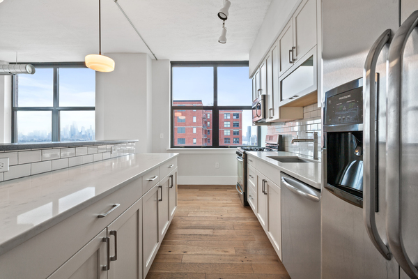 kitchen at Cast Iron Lofts