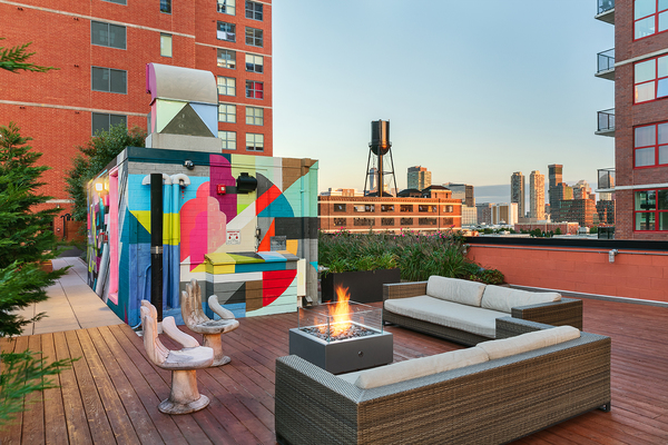 fire pit at Cast Iron Lofts