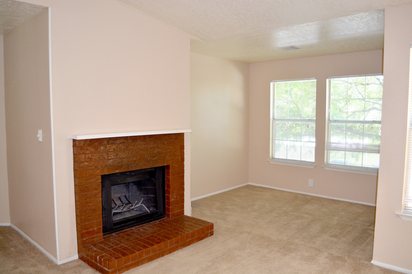 living room at Spring Park Apartments