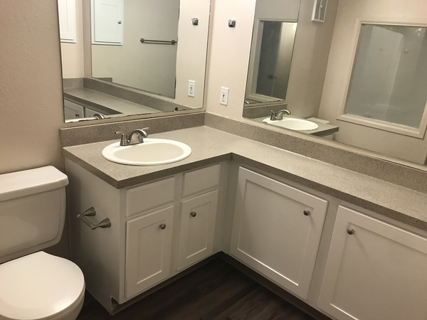 bathroom at Spring Park Apartments