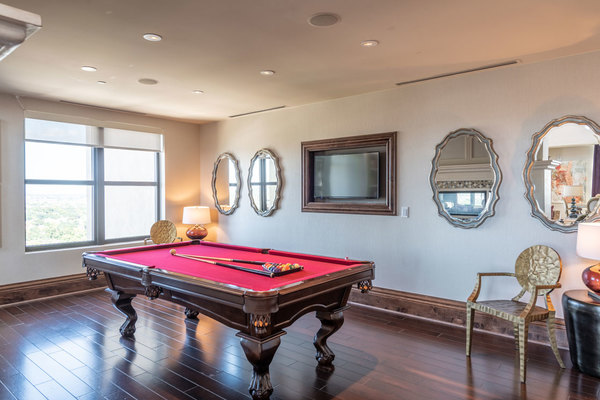 game room at The Carter Apartments