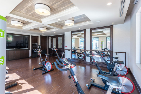fitness center at The Carter Apartments