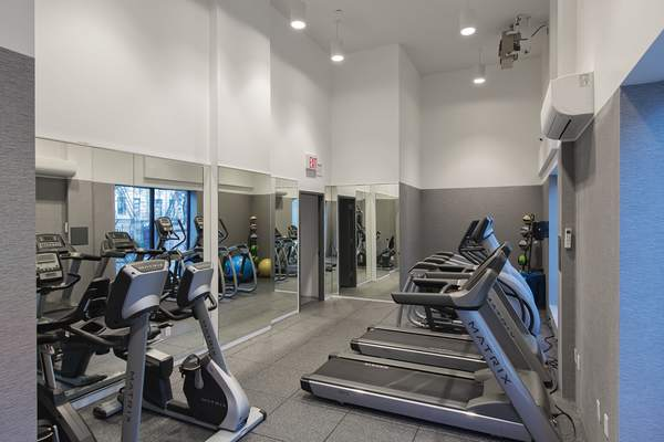 fitness center at 424 Bedford