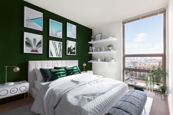 bedroom at VINE Apartments
