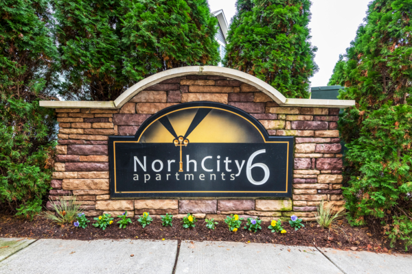 signage at NorthCity 6 Apartments