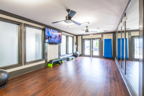 yoga/spin studio at NorthCity 6 Apartments