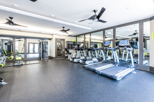 fitness center at NorthCity 6 Apartments