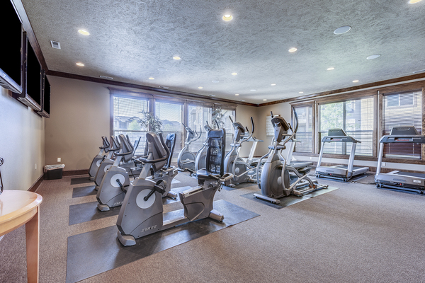fitness center at Central Park Apartments