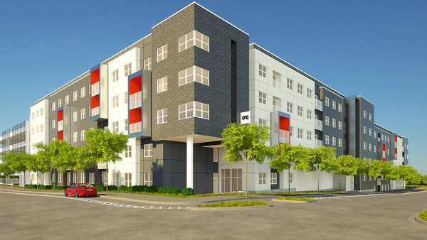 rendering of One on 4th Apartments