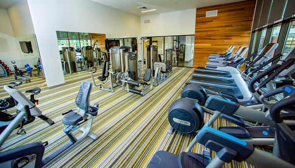 fitness center at Ridge at Robinson Apartments