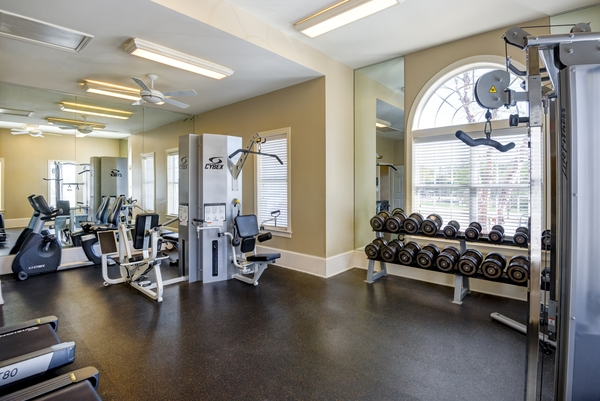 fitness center at River Run Apartments
