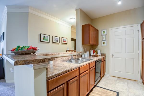 kitchen at River Run Apartments