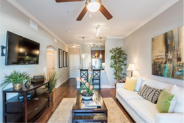 living room at Deseo at Grand Mission Apartments