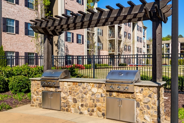 grill area at River Run Apartments