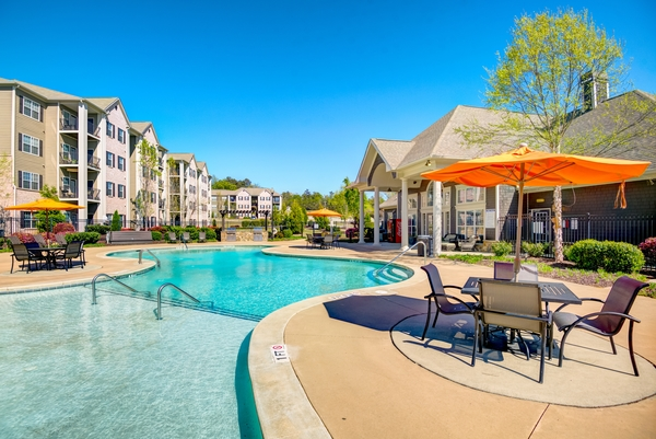 pool at River Run Apartments