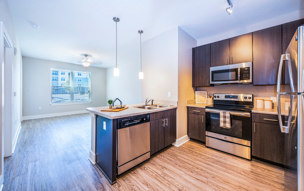 kitchen at Atlantic on the Boulevard Apartments