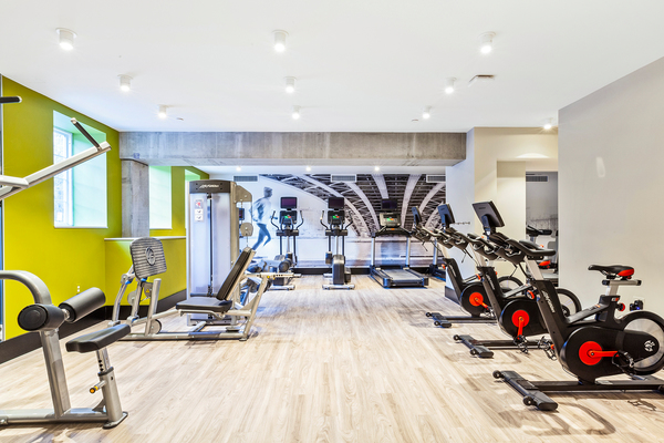 fitness center at Juliana Apartments