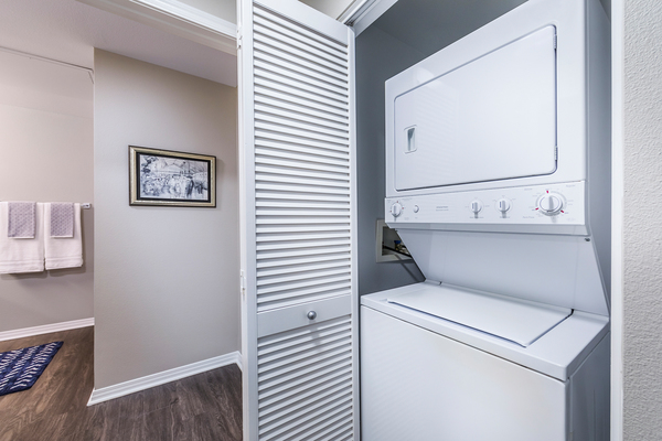 laundry room at The Gallery at NoHo Commons Apartments