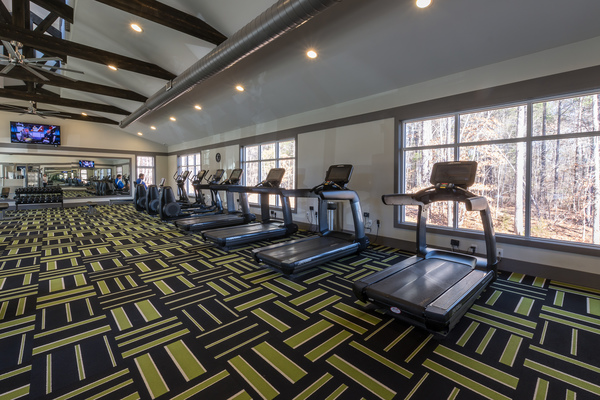 fitness center at Morgan Reserve Apartments