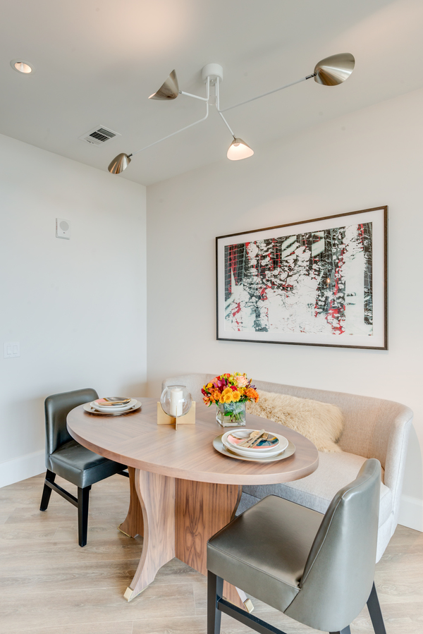 dining room at Kirby Collection Apartments