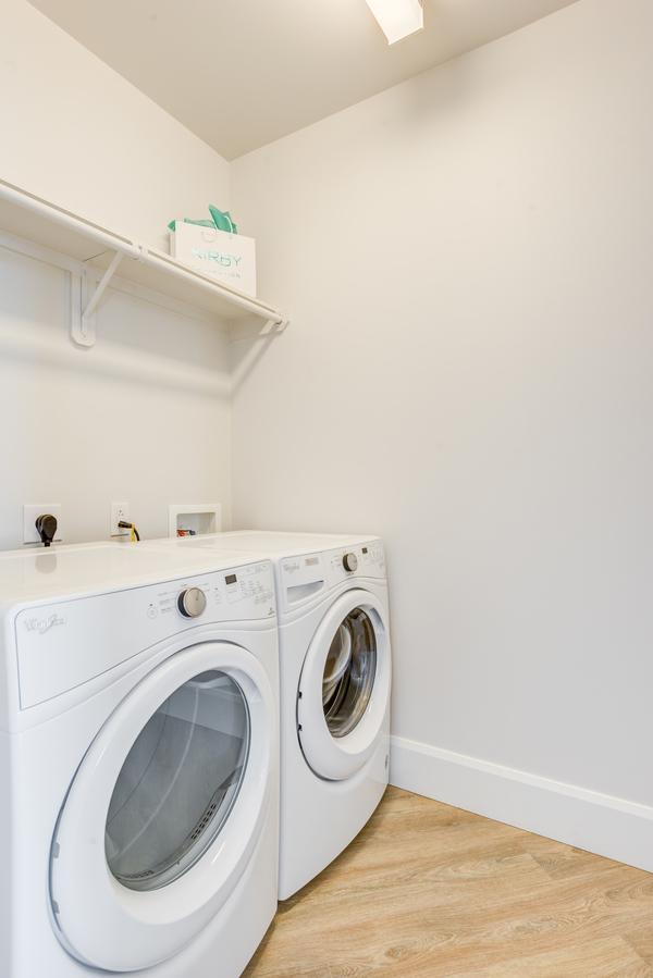 laundry room at The Residences at Kirby Collection