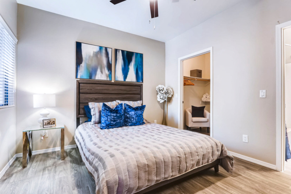 bedroom at Bayside Apartments