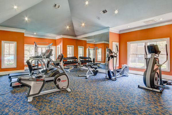 fitness center at Round Grove Apartments