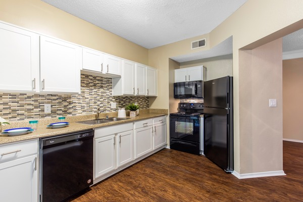 kitchen at Round Grove Apartments