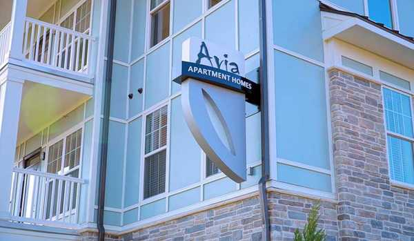 signage at Avia Apartments