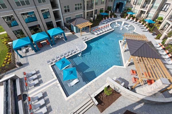 pool at Avia Apartments
