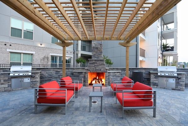 grill area at Avia Apartments