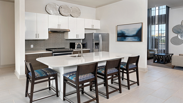 kitchen at Avia Apartments
