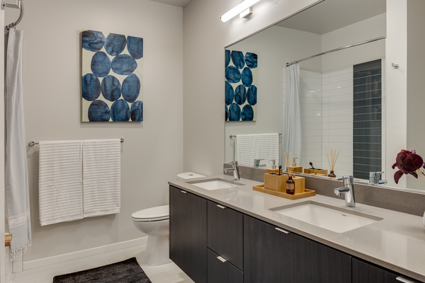 bathroom at Sitka Apartments
