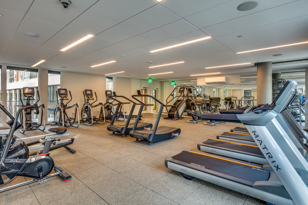fitness center at Sitka Apartments
