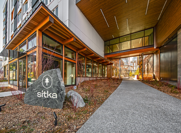 exterior at Sitka Apartments