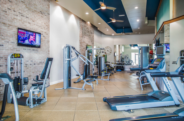 fitness center at Elan Midtown Luxury Apartments
