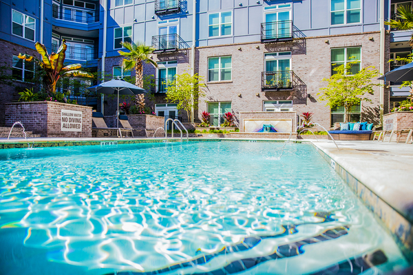 pool at Elan Midtown Luxury Apartments