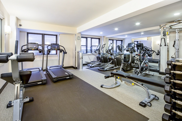 fitness center at Renoir House Apartments