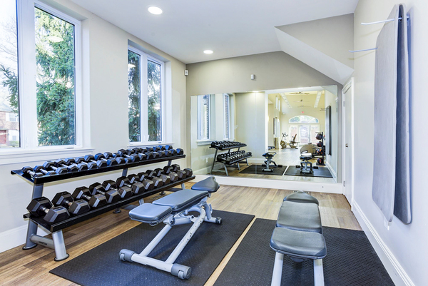 fitness center at Village at Fox Point Apartments