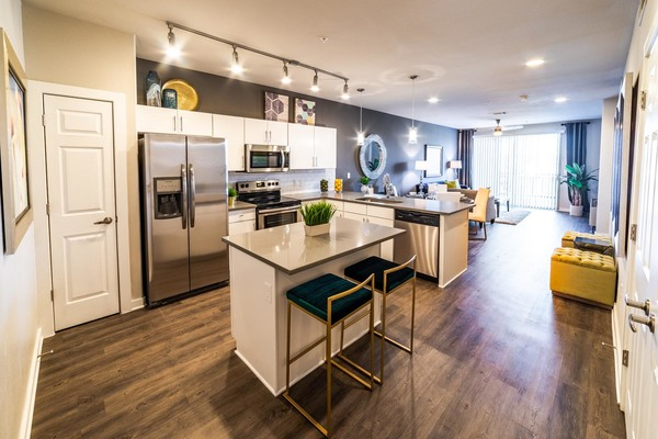 kitchen at Trinity Residences Apartments