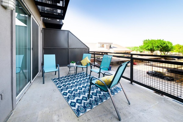 patio at Trinity Residences Apartments