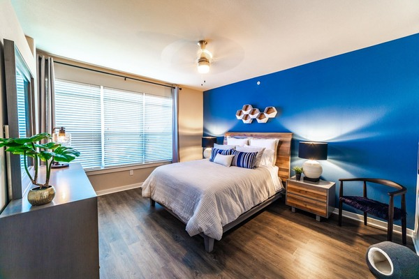 bedroom at Trinity Residences Apartments