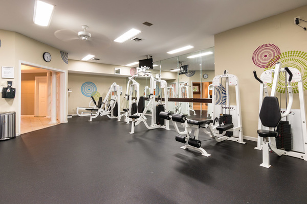 fitness center at Assembly Alexandria Apartments