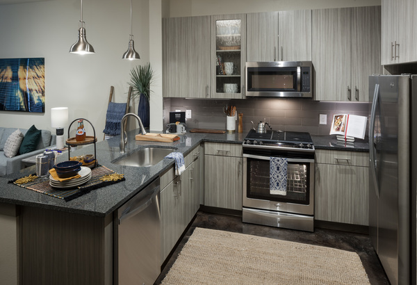 kitchen at Alexan Crossings Apartments